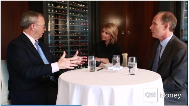 Eric Schmidt interview with CNNMoney